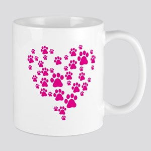 Heart of Paw Prints Mug